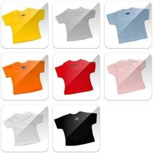 Goedkope mini baby-doll T-shirts (100% katoen) met ronde hals en korte mouw