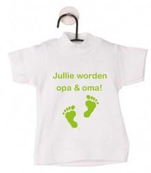 Katoenen witte mini baby-doll T-shirts