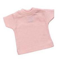 Памук мини розови бебе-кукла тениски