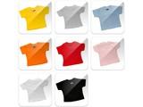 Ucuz açık mavi, mini T-shirt (bebek bebek,% 100 pamuk, kısa kollu ve yuvarlak boyun)