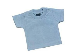 Goedkope lichtblauwe mini baby-doll T-shirts kopen?
