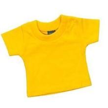 Памучни жълто мини бебе-кукла тениски