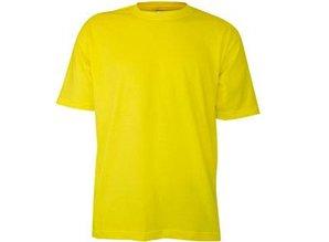 Goedkope gele T-shirts met korte mouw en ronde hals kopen?