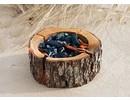 Wood Grill, 100% naturligt produkt (. Ekskl grid) Størrelse: 200-240 x 110 mm Ø