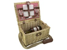 "Lifestyle collectie │ Cheap wicker baskets Tapas ""Red Moon"" for 2 persons (incl. accessories)"