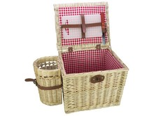 "Lifestyle collectie │ Luxury wicker baskets Tapas ""Red Lady"" for 4 persons (incl. accessories)"