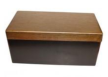 Chic træ pack kasser med guld låg (indvendige dimensioner 460 x 220 x 210 mm)