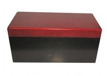 Chic wooden pack boxes with red-colored cover (inside dimensions 460 x 220 x 210 mm)