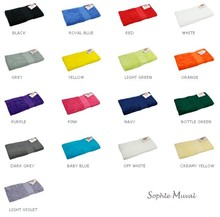 Luxe zware katoenen badstof badhanddoeken (afmeting 50 x 100 cm, gewicht 450 gr/m2)