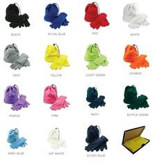 Trendy руното шапка и ръкавици руно съвпадение