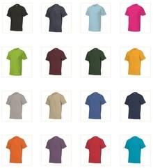 Goedkope gekleurde T-shirts in extra grote maten kopen (T-shirts leverbaar in de maten S t/m 7XL)
