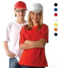 100% katoenen kinder T-shirts met korte mouw en ronde hals