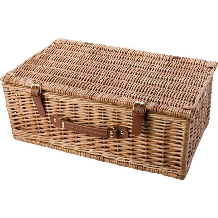 Panier pique nique de luxe pour 4 personnes y compris les couverts et la vaisselle goods and - Panier picnic pas cher ...