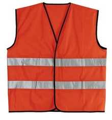 Cheap Safety Vests with reflective stripes in an adult unisex size