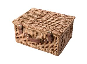 Deluxe кошница за пикник за 2 лица (включително посуда и прибори)