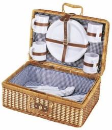 """Goedkope Picknickmanden """"Bamboe"""" (inhoud geschikt voor 4 personen)"""