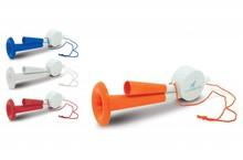 Billige tofarvet horn (dimensioner: længde 23 cm, bredde 6,8 cm, højde 6,8 cm)