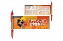 Goedkope bannerpennen met voetbalschema WK 2014
