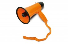 Orange Holland Megaphone with real sound: Ole, ole, ole, we are the Champions ...