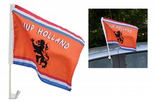 Cheap orange Holland Car Flags (size 30 x 45 cm)