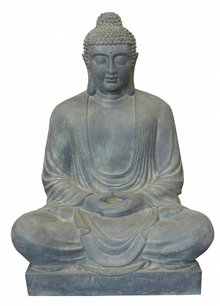 Great Buddha statue in the garden (seated, 120 cm high)