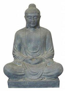 Store Buddha-statue i haven (siddende, 120 cm høj)