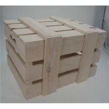 """Blank houten Scheepskisten """"Open Visie"""" (afmeting 400 x 300 x 230 mm)"""