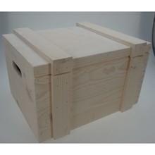 "Scheepskisten ""Blanca"", kleur blank hout (afmeting 400 x 300 x 230 mm)"
