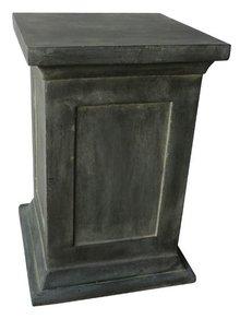 Donkergrijze Sokkel voor Boeddhabeeld (afmeting 34 x 34 x 50 cm)