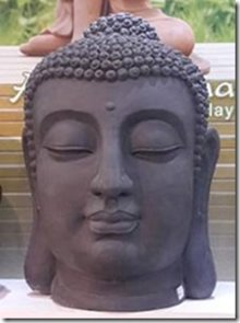 Medium Buddha statue hoved (højde 70 cm)