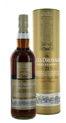 GLENDRONACH 21 years Parliament Single Malt Whisky (inhoud 0,7 liter)