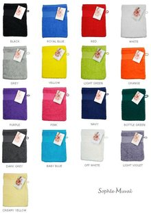 Terry Washcloths in a heavy-duty (450 g/m2) brand Sophie Muval