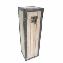 Luxury standing wooden one-compartment Wine boxes (110 x 110 x 265 mm)