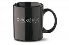De goedkoopste zwarte mokken voorzien van een bedrukking (inhoud 30 cl)