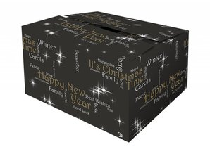 With us you can buy Christmas Boxes patterned Happiness!