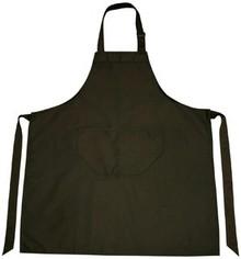 Billige sorte professionelle Køkken Forklæder (kvalitet 65% polyester / 35% bomuld, størrelse: 75 x 85 cm)