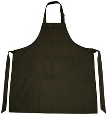 Cheap Black Professional Kitchen Apron (quality 65% ​​polyester / 35% cotton, size: 75 x 85 cm)