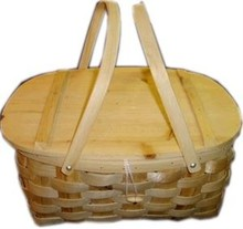 Chunky knit picnic baskets with two handles (size 41 x 32 x 19 cm)