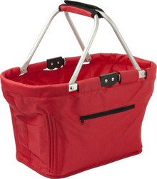 Foldable picnic baskets (with two handles and a zipper pocket on the front)