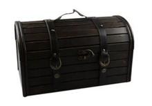 Bruine houten schatkisten (afmeting buitenmaats 400 x 200 x 230 mm)
