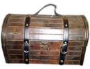 Colonial træ vin kasse 'Delores (størrelse 320 x 125 x 150 mm)