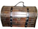 Colonial wooden wine box 'Valero' (size 440 x 270 x 310 mm)