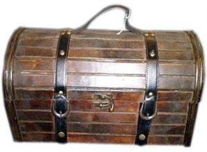 Colonial træ vin kasse »Valero '(størrelse 440 x 270 x 310 mm)