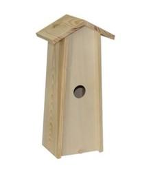 Blank дървена къщичка за птици, подходящи за 1 бутилка вино (размер в рамките Съквартиранти: около 34,5 х 11 х 9 см)