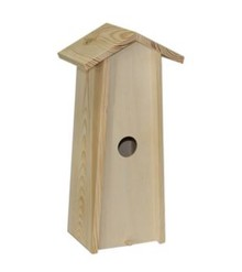 Blank wooden bird house suitable for 1 bottle of wine (size within mates: approx 34.5 x 11 x 9 cm)