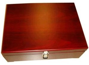 Luxury Brown 3-compartment wooden wine box with dividers!