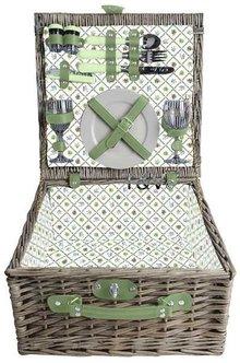 """Luxe picknickmanden """"Small Greeny"""" voor 2 personen (met inhoud)"""