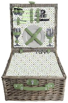 "Luxury picnic baskets ""Small Greeny"" for 2 persons (with contents)"