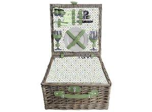 """Luxe picknickmanden """"Small Greeny"""" voor 2 personen"""
