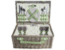 "Luxury picnic baskets ""Big Greeny"" for 4 people (with contents)"